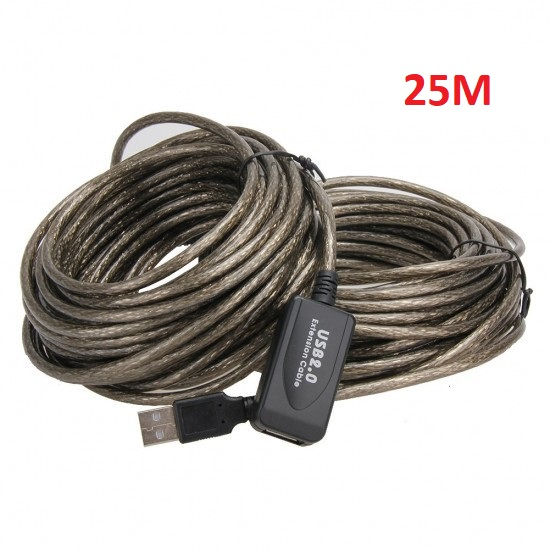 25 METERS USB 2.0 ACTIVE EXTENSION/REPEATER CABLE A MALE TO A FEMALE